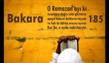 Ramazan Ayının Kazanımları